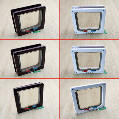 4 Way Pet door Locking Small Large Dog And Cat Flap Magnetic Door Frame