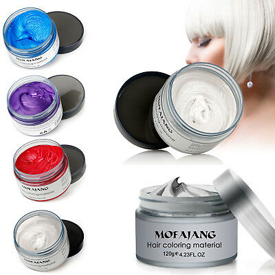 DIY 7 Color Hair Color Pomades MOFAJANG DIY Wax Mud Dye Styling Cream Disposable