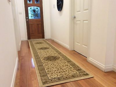 Hallway Runner Hall Runner Rug Traditional Cream 4 Metres Long FREE DELIVERY