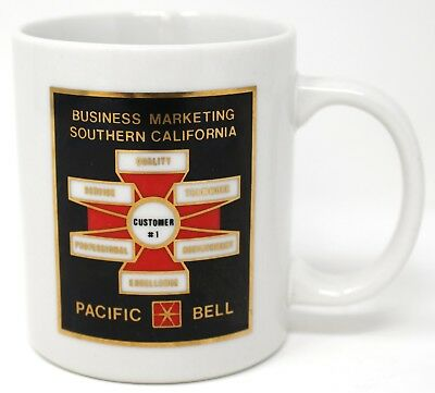 Vintage Pacific Bell Southern California Business Marketing Coffee  Tea Cup Mug