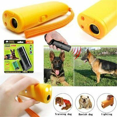 Ultrasonic Anti Bark Stop Barking Dog Training Repeller Control Trainer Device F