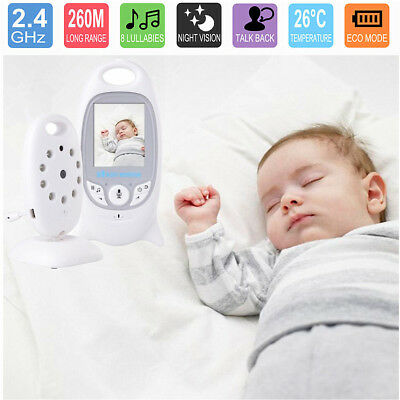 2.4GHz Audio Video Baby Monitor Wireless Digital Camera Night Vision Safe Viewer