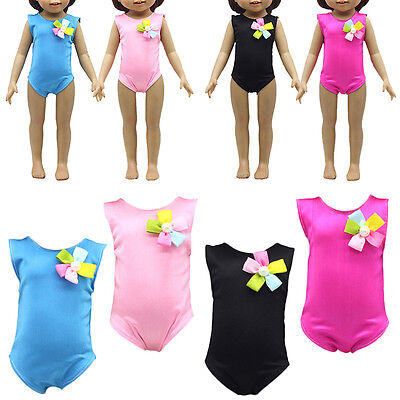 Handmade Doll Summer Swimsuit Clothes For 18 Inch Girl Doll Kids Swimsuit w/