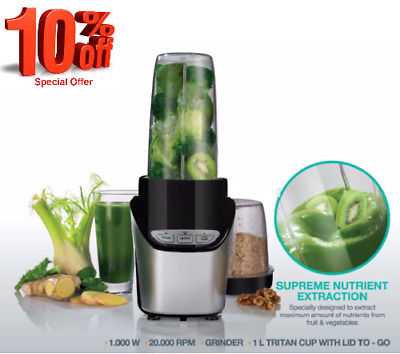 1000W Ultra Blend Personal Blender Nutrient Extractor Smoothie Maker Mixer