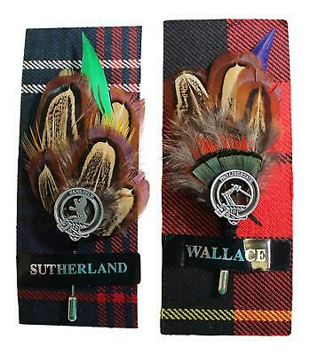 Ronnie Hek Feather Clan Crest Kilt Stick Pin - Sutherland Wallace