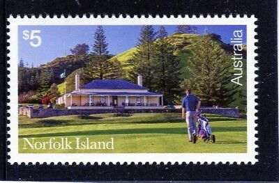 2018 Norfolk Island $5 High Value Golf Stamp Mint Never Hinged, New Issue