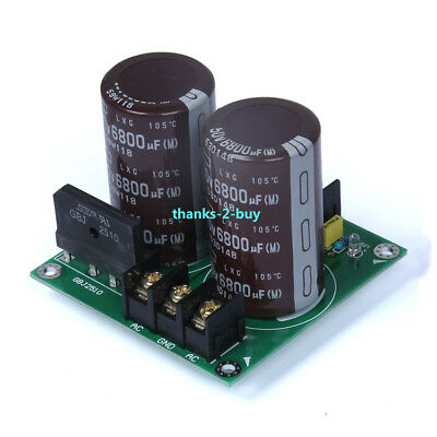 25A Audio Amplifier Rectifier Filter Dual Power Supply Board 6800uf/50V*2 AC-DC