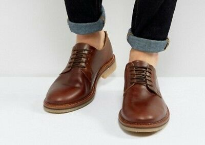 2aee28e6b493 ASOS LEATHER DERBY Shoes In Burgundy   Speckle Wedge Sole BNIB SIZE ...