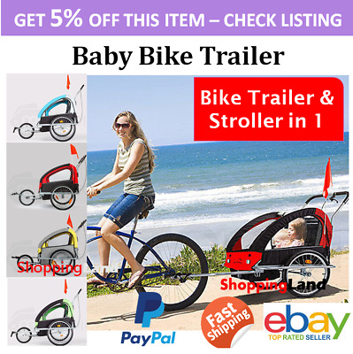 SGS Safety Kids Bike Trailer Child Bicycle Pram Stroller Children Jogger