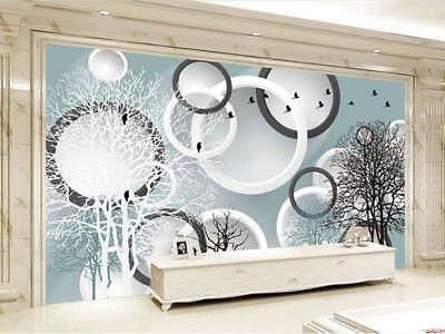 Pure Great Trees 3D Full Wall Mural Photo Wallpaper Printing Home Kids Deco