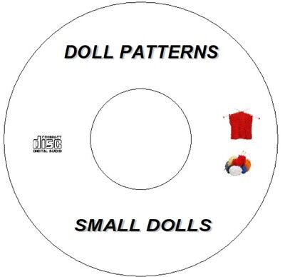 """Small Dolls Knitting Patterns Cd  Clothes Inc Sindy Barbie Type 10"""" - 20"""""""
