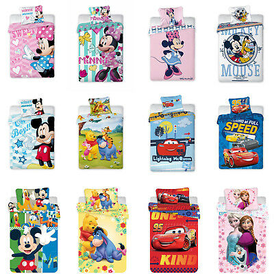 Disney Minnie Mickey Mouse Princess Cars Winnie the Pooh Bed Linen 100x135 CM