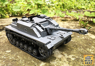 WW2 German StuG tank MOC complete brick set + building instruction by Buildarmy®