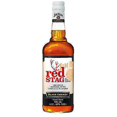 6 Flaschen Jim Beam Red Stag Black Cherry Flavored 40% a 0,7L Whisky