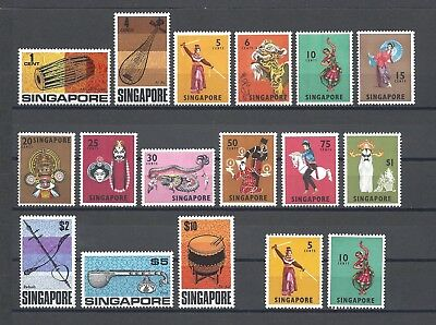 SINGAPORE 1968-72 SG 101/15 + Perfs MNH Cat £91.50