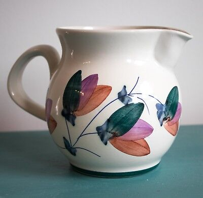 Pretty Vintage Hand Painted Iden Pottery, Rye Jug or Vase