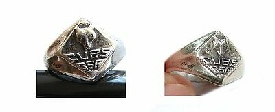 Vintage Boy Scouts Of America Sterling Silver Cub Scout Wolf Ring