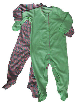 New Baby Girls Pink Green NEXT Babygrows Age 12-18 Months