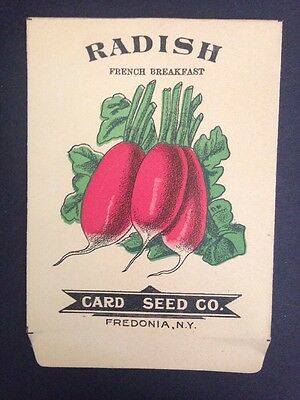 Vintage Antique 1900s CARD SEED CO Radish French Break Pack Mint Limited Supply