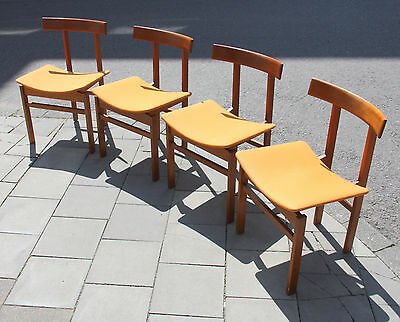 France and Son Danish Design Chair Inger Klingenberg 1960 Modell 193 Set of 4
