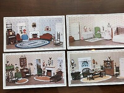 RARE HTF Chrysnbon Judy Berman Miniature Dollhouse Cards Lot 12 Cozy Corner Coll