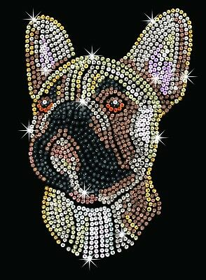 Sequin Art French Bulldog Craft Kit Creative Crafts Sequin Art Blue