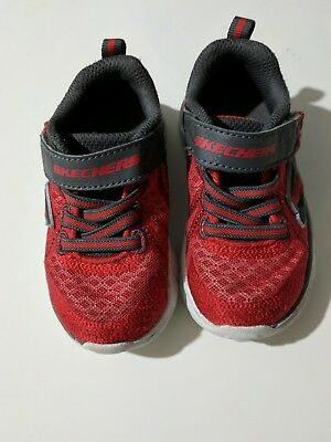 Toddler Boys sneakers Skechers shoes size 6 red gray