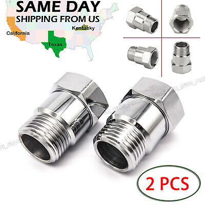 2X O2 Sensor Bung M18 X 1.5 Test Pipe Oxygen Extension Extender Adapter Spacer