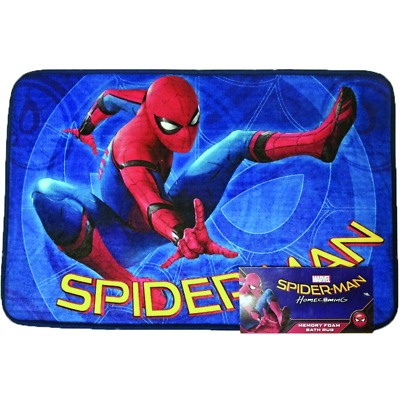 19e776cb5556e Disney Marvel Spiderman Spider man Bath Memory Foam Mat   Rug 16 x 24 Inches