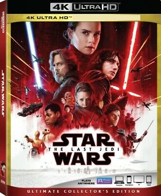 Star Wars VIII Last Jedi (4K UHD Bluray + Bonus Bluray + Slipcover) No Dig Code