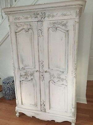 Antique Wardrobe Armoire Cabinet Shabby Chic French Country Magnificent one