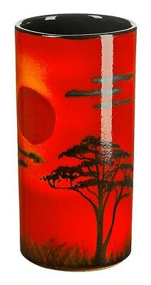 Poole Pottery African Sky Ceramic Pillar Vase 17cm First Quality UK Made