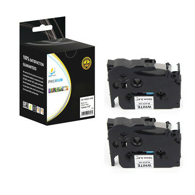 2PK Extra Strength TZeS231 Black on White 26.2ft Label tape for Brother Ptouch