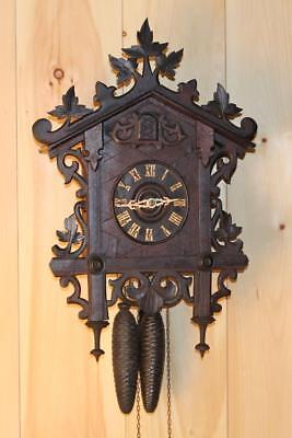 Antique GK Bahnhausle Railroad Cuckoo Clock