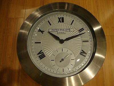 "PATEK PHILIPPE  SHOWROOM DISPLAY DEALER WALL CLOCK 22"" very heavy,nice condition"
