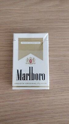 Empty packet of Marlboro gold for collection