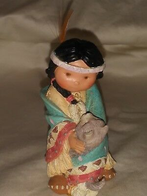 115657 Dances with Wolf 1994 Enesco Corporation Friends of the Feather Figurine
