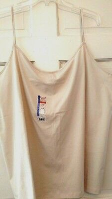 Womens Top Camisole Beige Faded Glory Stretch Cotton Spandex Comfortable NWT 5X