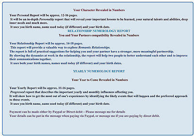 Numerology Reports - Personal Life report