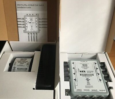 *NEW* Dish Pro Plus 44 Switch(DPP44) With Power Inserter