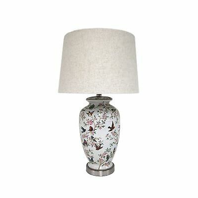 Beautiful chinese vase table lamp 1199 picclick uk mestar chinese traditional birds and floral ceramic vase table lamp living aloadofball Image collections