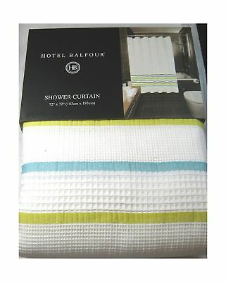 Hotel Balfour Premium Quality Fabric Shower Curtain White And Multi Color 10