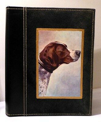 """Pointer Vintage Image On Quality Black Leather&Suede Album Holds 200 4""""x6"""" Pics"""