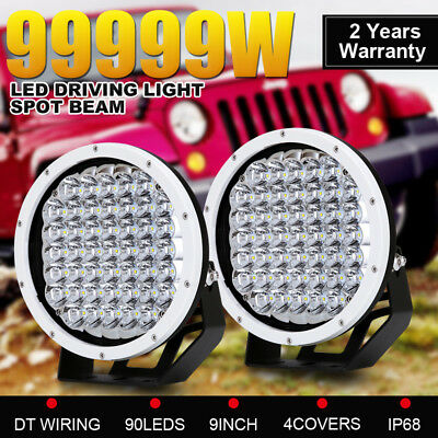 9inch 99999W CREE Round Spot LED Driving Light Offroad 4X4 White Spotlights Work