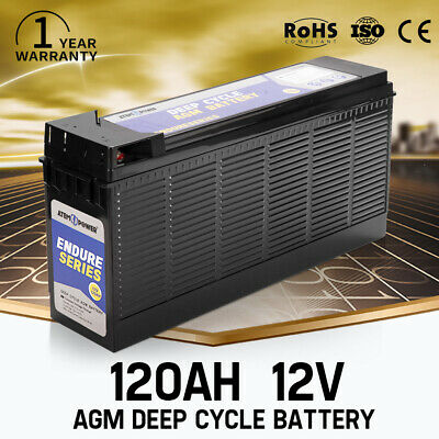 12AH AGM Deep Cycle Battery 12V  Deep Cycle Batteries Dual Fridge Solar Power