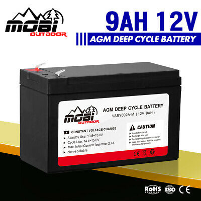 12V 9AH AGM Deep Cycle Battery 4X4 4WD Electric Portable Power Bank