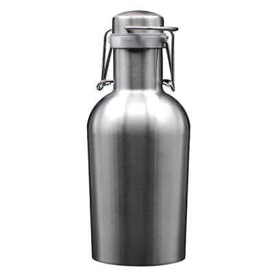 Baoblaze Stainless Steel Beer Wine Bottle 1.9 L Monolayer Reliably Sealing