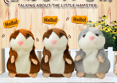 Talking Hamster Mouse Pet Cute Plush Toy Speak Sound Record For Children Baby