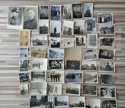 Lot 50 Vintage Original Ww2 German Army Real Photos Officers Soldiers Uniforms 4