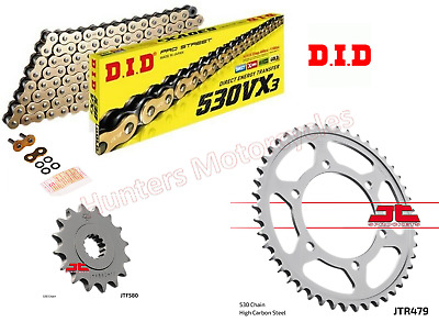 Yamaha FZ6 (2005 Model) DID Gold X-Ring Heavy Duty Chain & JT Sprockets Kit Set